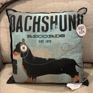 """Dachshund Pillow 16""""x16"""""""